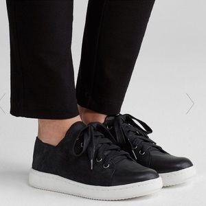 Eileen Fisher Clifton Suede Leather Sneakers Black
